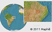 Satellite Location Map of S. Dos Moreiras