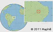 Savanna Style Location Map of S. Dos Moreiras