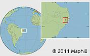 Savanna Style Location Map of S Joaquin D Mont