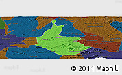 Political Panoramic Map of Salgueiro, darken