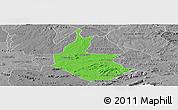 Political Panoramic Map of Salgueiro, desaturated
