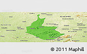 Political Panoramic Map of Salgueiro, physical outside