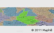 Political Panoramic Map of Salgueiro, semi-desaturated