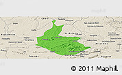 Political Panoramic Map of Salgueiro, shaded relief outside