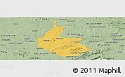 Savanna Style Panoramic Map of Salgueiro