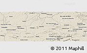 Shaded Relief Panoramic Map of Salgueiro
