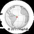 Outline Map of Santa Cruz Do Capibaribe