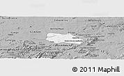 Gray Panoramic Map of Santa Cruz do Capibaribe