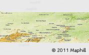 Physical Panoramic Map of Santa Cruz do Capibaribe
