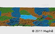 Political Panoramic Map of Santa Cruz do Capibaribe, darken