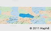 Political Panoramic Map of Santa Cruz do Capibaribe, lighten