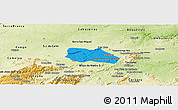 Political Panoramic Map of Santa Cruz do Capibaribe, physical outside