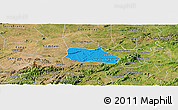 Political Panoramic Map of Santa Cruz do Capibaribe, satellite outside