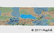 Political Panoramic Map of Santa Cruz do Capibaribe, semi-desaturated