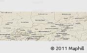 Shaded Relief Panoramic Map of Santa Cruz do Capibaribe
