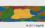 Political Panoramic Map of Sertania, darken