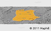 Political Panoramic Map of Sertania, desaturated