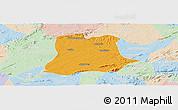 Political Panoramic Map of Sertania, lighten