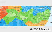 Political Shades Simple Map of Pernambuco