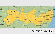 Savanna Style Simple Map of Pernambuco