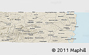 Shaded Relief Panoramic Map of Tambe
