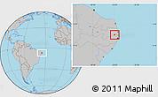Gray Location Map of Timbauba