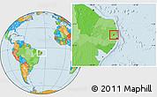 Political Location Map of Timbauba