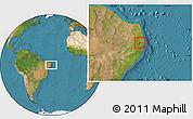 Satellite Location Map of Timbauba