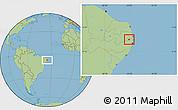 Savanna Style Location Map of Timbauba