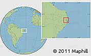 Savanna Style Location Map of Tracunhaem