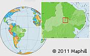 Political Location Map of Trindade