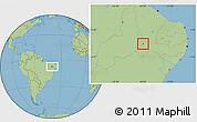 Savanna Style Location Map of Trindade