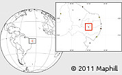 Blank Location Map of Tuparetama