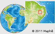 Physical Location Map of Tuparetama