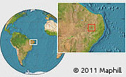 Satellite Location Map of Tuparetama