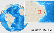 Shaded Relief Location Map of Tuparetama