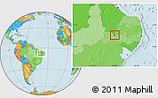 Political Location Map of Verdejante