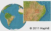 Satellite Location Map of Verdejante
