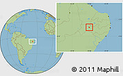 Savanna Style Location Map of Verdejante