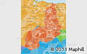 Political Shades 3D Map of Piaui