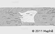 Gray Panoramic Map of Fronteiras