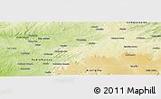Physical Panoramic Map of Fronteiras