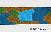 Political Panoramic Map of Fronteiras, darken