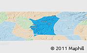 Political Panoramic Map of Fronteiras, lighten