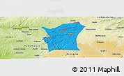 Political Panoramic Map of Fronteiras, physical outside