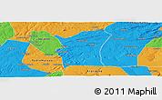 Political Panoramic Map of Fronteiras