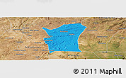 Political Panoramic Map of Fronteiras, satellite outside