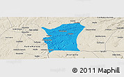 Political Panoramic Map of Fronteiras, shaded relief outside