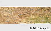 Satellite Panoramic Map of Fronteiras