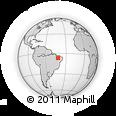 Outline Map of Ipiranga Piaui